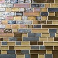Glass Horizons Tile Pacific Blend Random Linear Mosaic GH14