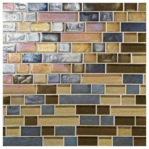 Glass Horizons Tile Pacific Blend Random Linear Mosaic GH14