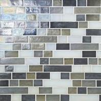 Glass Horizons Tile Arctic Blend Random Linear Mosaic GH15