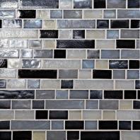 Glass Horizons Tile Baltic Blend Random Linear Mosaic GH16