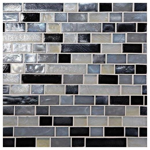 Glass Horizons Tile Baltic Blend Random Linear Mosaic GH16