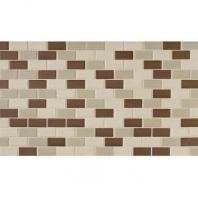 Keystones Tile Chocolate 2x1 Brick-Work Mosaic DK13