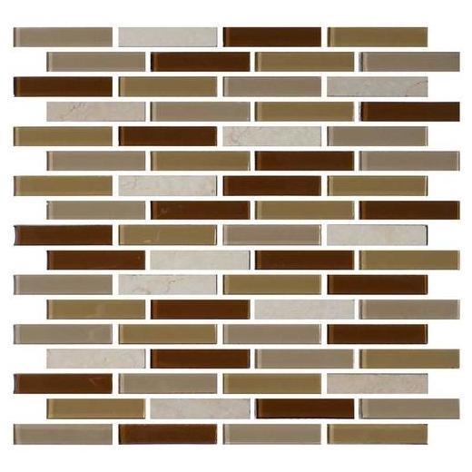 Mosaic Traditions Tile Caramelo 5/8 x 3 Brick-Joint Mosaic BP95