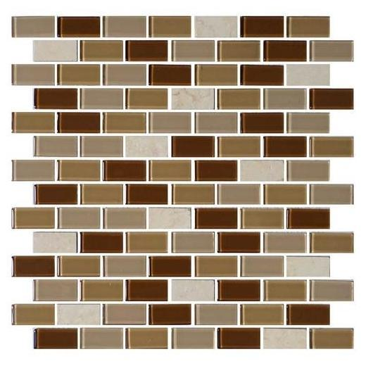 Mosaic Traditions Tile Caramelo 3/4 x 1 1/2 Brick-Joint Mosaic BP95