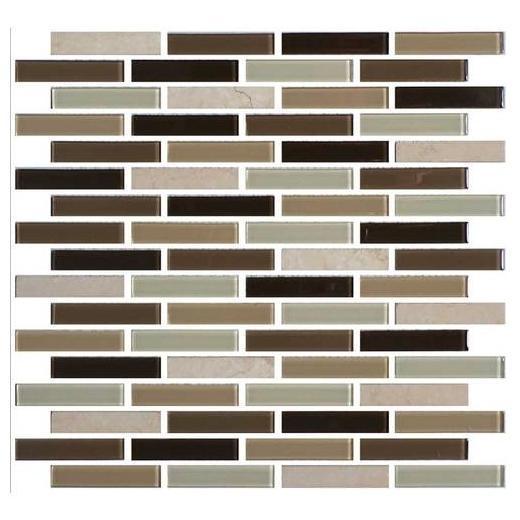 Mosaic Traditions Tile Zen Escape 5/8 x 3 Brick-Joint Mosaic
