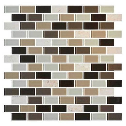 Mosaic Traditions Tile Zen Escape 3/4 x 1 1/2 Brick-Joint Mosaic