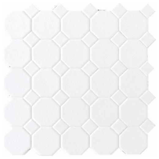 Octagon & Dot Tile Matte White/ Dot 6501