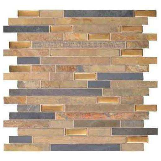 Olympus Slate Tile Matte Coliseum Blend 5/8 Random Linear OS01