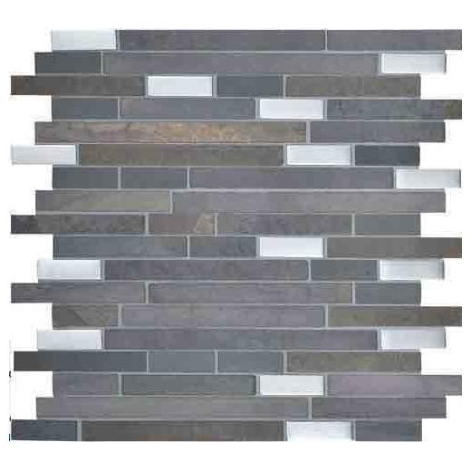 Olympus Slate Tile Matte Parthenon Blend 5/8 Random Linear OS02