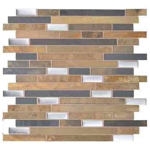 Olympus Slate Tile Matte Acropolis Blend 5/8 Random Linear OS03