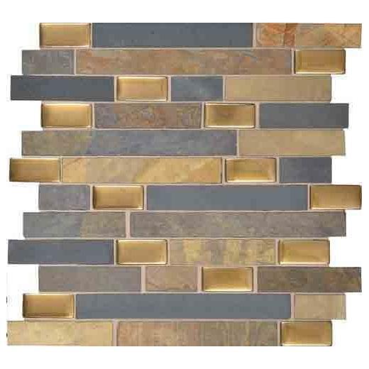 """Olympus Slate Tile Coliseum Blend 1"""" Random Linear OS01"""