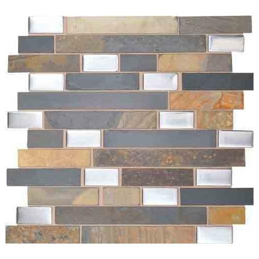 """Olympus Slate Tile Acropolis Blend 1"""" Random Linear OS03"""