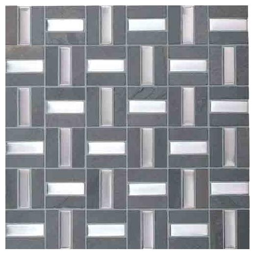 Olympus Slate Tile Parthenon Blend 5/8 x2 Crosshatch OS02
