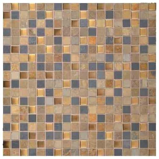 "Olympus Slate Tile Coliseum Blend 5/8"" x 5/8"" Mosaic OS01"