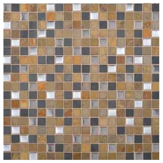 "Olympus Slate Tile Acropolis Blend 5/8"" x 5/8"" OS03"