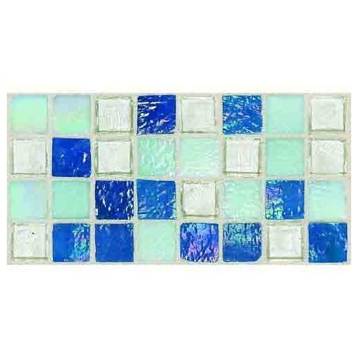Egyptian Glass Tile Blue Pearl Mix EG34