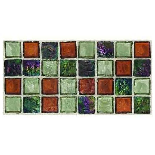 Egyptian Glass Tile Amber Medley EG36