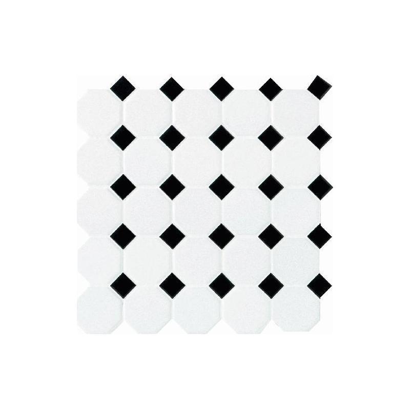 Buy Daltile Octagon Amp Dot Tile Matte White Black Gloss