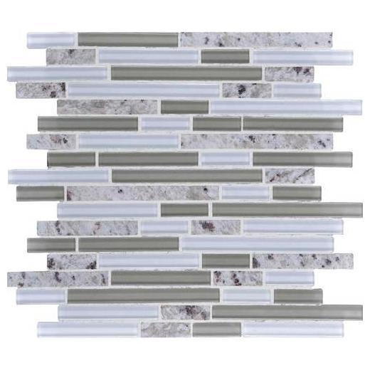 Granite Radiance Tile Kashmir White Blend Random GR6058RANDMS1P