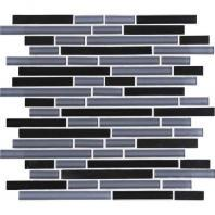 Granite Radiance Tile Absolute Black Blend Random GR61