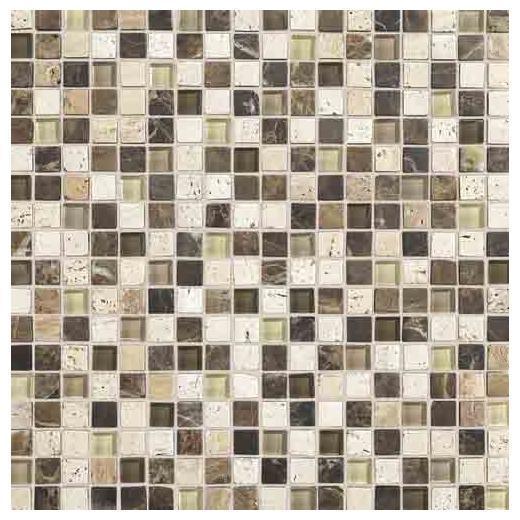 Stone Radiance Tile Morning Sun/ Tortoise/ Mushroom Blend SA525858MS1P