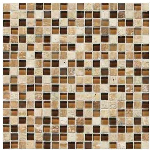 Stone Radiance Tile Caramel/ Travertino Blend SA58