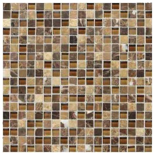 Stone Radiance Tile Butternut Emperador Blend SA60