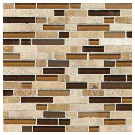 Stone Radiance Tile Caramel/ Travertino Blend Random SA58