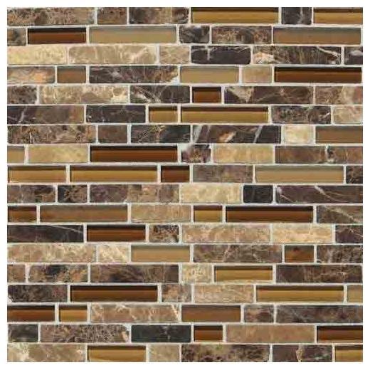 Stone Radiance Tile Butternut Emperador Blend Random SA60