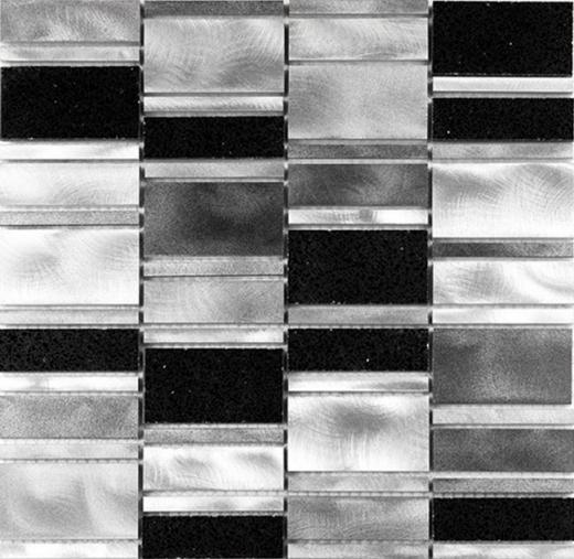 Citta Series Silver Lava Mosaic Tile