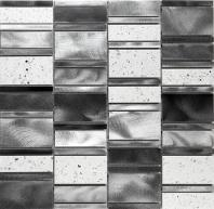 Citta Series Silver Luster Mosaic Tile MJLW1