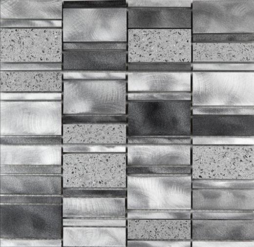 Citta Series Silver Pacific Mosaic Tile