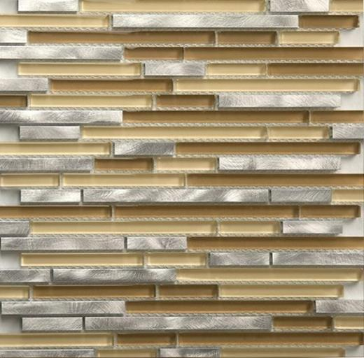 Riga Series Steel Mocha Mosaic Tile