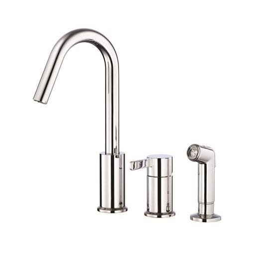 Amalfi Series Single Handle Kitchen Faucet with Spray D409030
