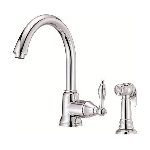 Fairmont Series Single Handle Kitchen Faucet with Spray D401540