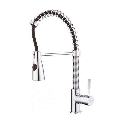 Kraus KPF-1612 Single Lever Pull Out Kitchen Faucet Chrome