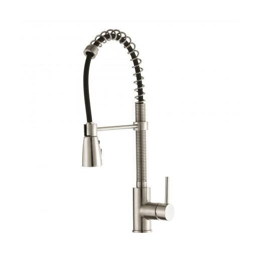 Kraus Single Lever Pull Down Kitchen Faucet in Stainless Steel KPF-1612SS