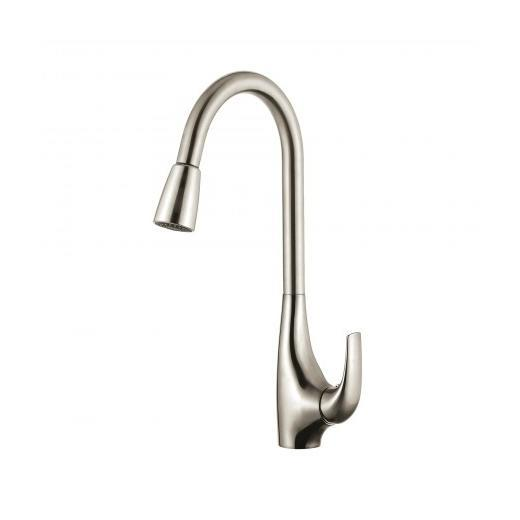 Kraus Single Lever Pull Down Kitchen Faucet in Stainless Steel KPF-1621SS