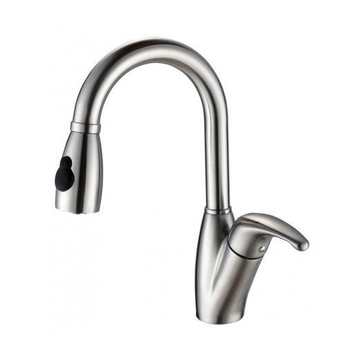 Kraus KPF 2121 Single Lever Stainless Steel Pull Out Kitchen Faucet