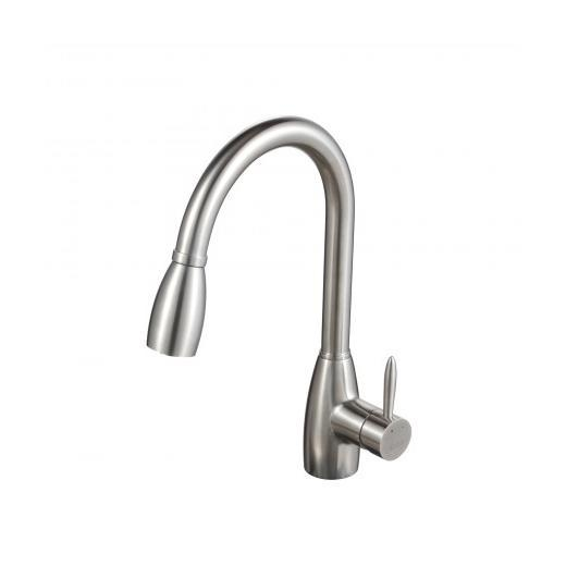 Kraus KPF-2130 Single Lever Stainless Steel Pull Out Kitchen Faucet