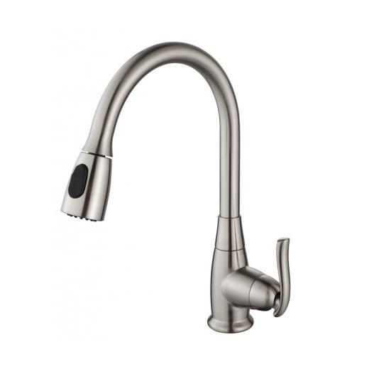 Kraus Single Lever Pull Out Kitchen Faucet Satin Nickel KPF-2230SN