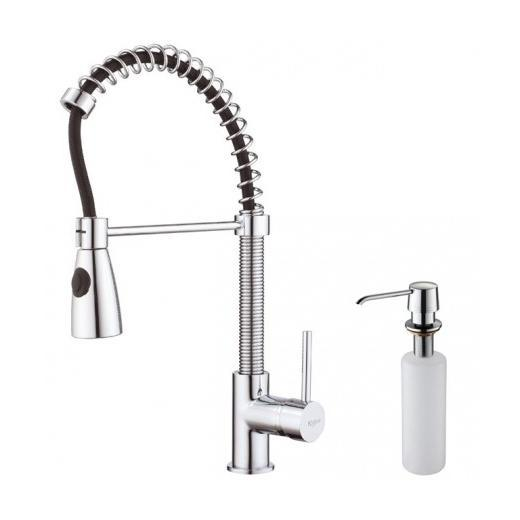 KPF-1612-KSD-30CH Single Lever Pull Out Kitchen Faucet and Soap ...