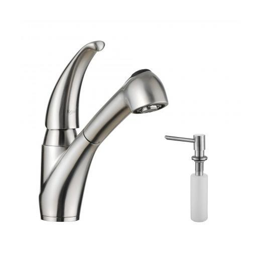 Gentil Kraus KPF 2110 SD20 Single Lever Stainless Steel Pull Out Kitchen Faucet  And Soap