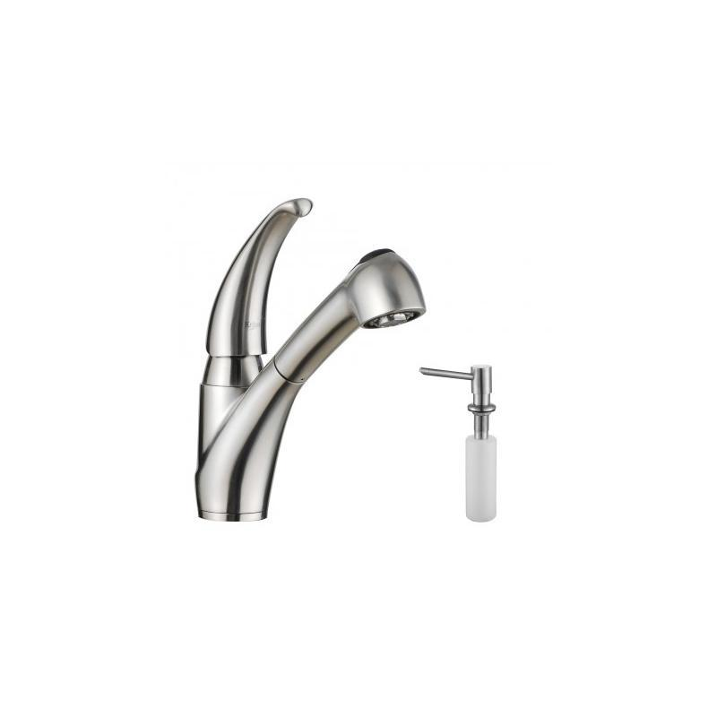 Kraus KPF-2110-SD20 Lever Stainless Steel Pull Out Kitchen Faucet