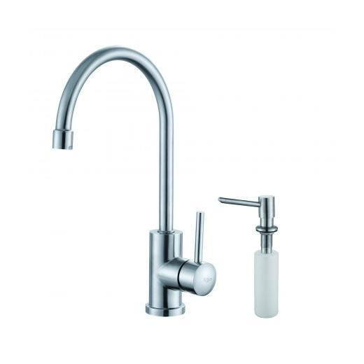 Kraus Single Lever Stainless Steel Kitchen Faucet and Soap Dispenser KPF-2160-SD20