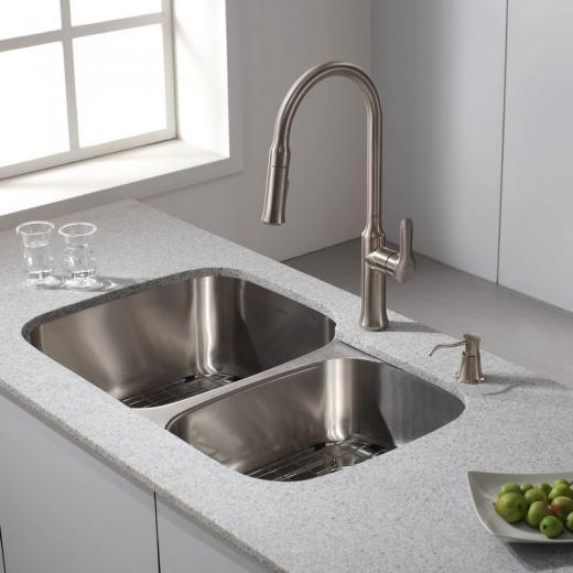 Kraus Nola Single Lever Pull-down Kitchen Faucet Chrome KPF-1630SS