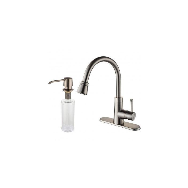Kraus KPF-2220-30SN Single Lever Pull Out Kitchen Faucet Satin Nickel