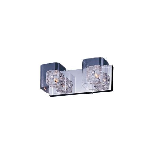 Gem 2-Light Bath Vanity with SV Shade-E22832-18PC