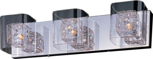 Gem 3-Light Bath Vanity with SV Shade-E22833-18PC