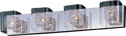 Gem 4-Light Bath Vanity with SV Shade-E22834-18PC